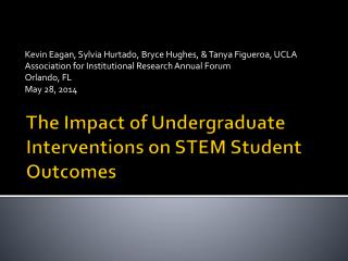 The Impact of Undergraduate Interventions on STEM Student Outcomes