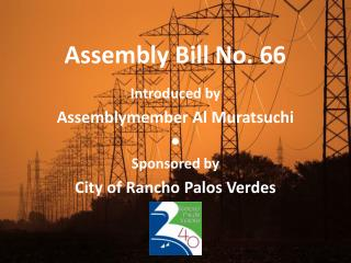 Assembly Bill No. 66