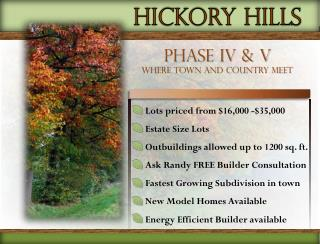 Lots priced from  $ 16 ,000 -$35,000 Estate Size Lots Outbuildings allowed up to 1200 sq. ft.