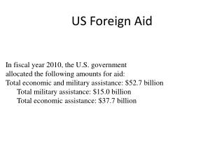 US Foreign Aid