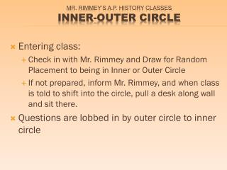 Mr.  Rimmey's  A.P. history Classes Inner-Outer Circle
