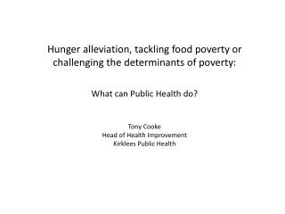 Food poverty is…