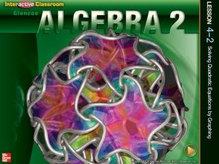 Algebra II Standard 1.0