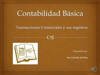 Transacciones y Registro en el Libro de Diario