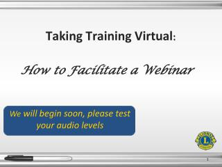 Taking Training Virtual :