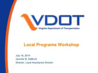 Local Programs Workshop