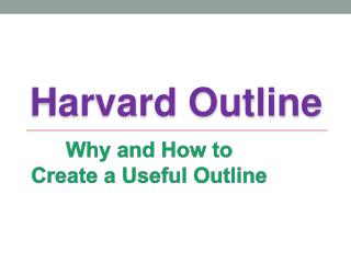 Harvard Outline