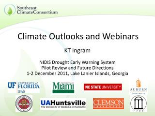 Climate Outlooks and Webinars