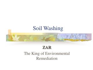 Soil Washing