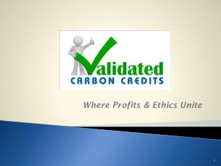 Validated Carbon Credits