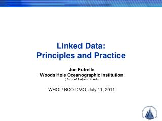 Linked Data: Principles and Practice