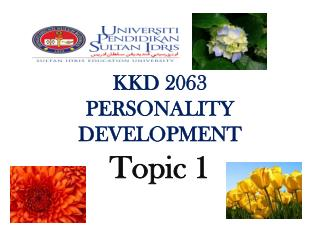 KKD 2063 PERSONALITY  DEVELOPMENT
