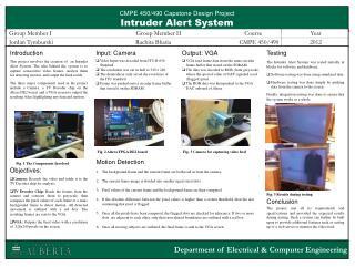 CMPE  450/490 Capstone  Design Project Intruder Alert System