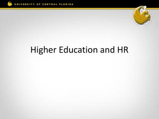 Higher Education and HR