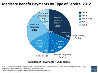 Medicare Benefit Payments By Type of Service, 2012
