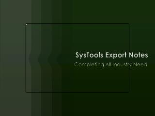 Export Notes with Trial version