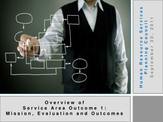 Overview of  Service Area Outcome 1: Mission, Evaluation and Outcomes