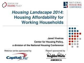Housing Landscape 2014 : Housing Affordability for Working Households