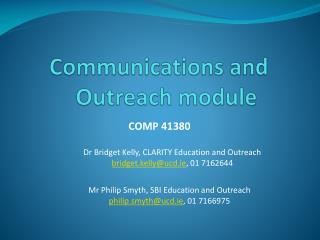 Communications and Outreach module