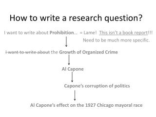 How to write a research question?