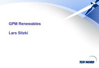 GPM  Renewables Lars Sitzki