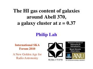 The HI gas content of galaxies  around Abell 370,  a galaxy cluster at z = 0.37