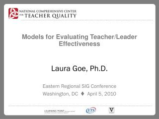 Models for Evaluating Teacher/Leader Effectiveness