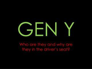 GEN Y