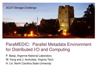 ParaMEDIC:  Parallel Metadata Environment for Distributed I/O and Computing