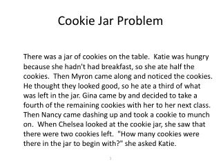 Cookie Jar Problem