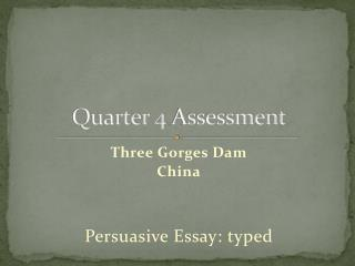 Quarter  4  Assessment