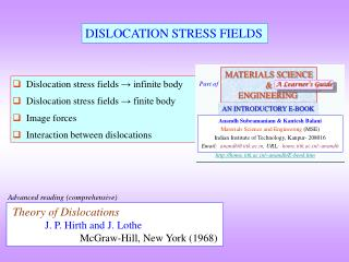 DISLOCATION STRESS FIELDS