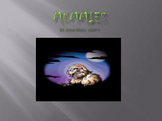 MUMMIES by:  Aidan Brock, Grade 4