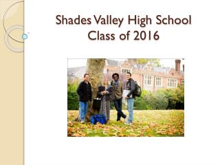 Shades Valley High School Class of 2016