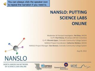 NANSLO: Putting Science Labs Online