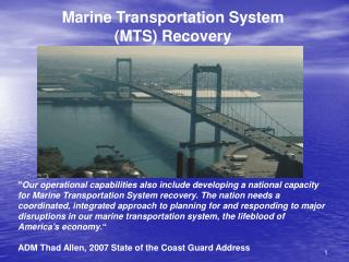 Maritime Transportation System Plan