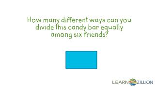 How many different ways can you divide this candy bar equally among six friends?