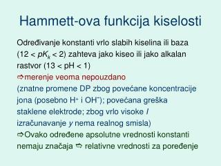 Hammett-ova funkcija kiselosti