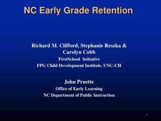 NC Early Grade Retention