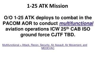 1-25 ATK Mission