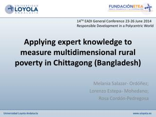 Applying expert knowledge to measure multidimensional rural poverty in Chittagong (Bangladesh)