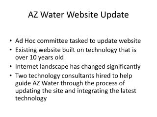 AZ Water Website Update