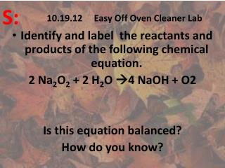 10.19.12     Easy Off Oven Cleaner Lab