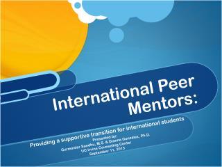International Peer Mentors: