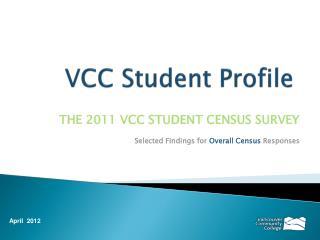 VCC Student Profile