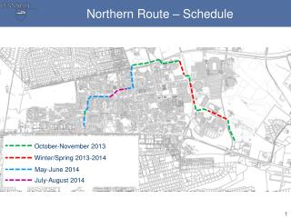 Northern Route � Schedule