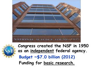 Congress created the NSF in 1950 as an  independent  federal agency.
