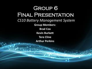 Group 6   Final Presentation