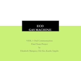 Eco Gas Machine