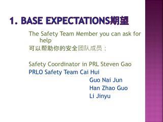 1. BASE EXPECTATIONS ??